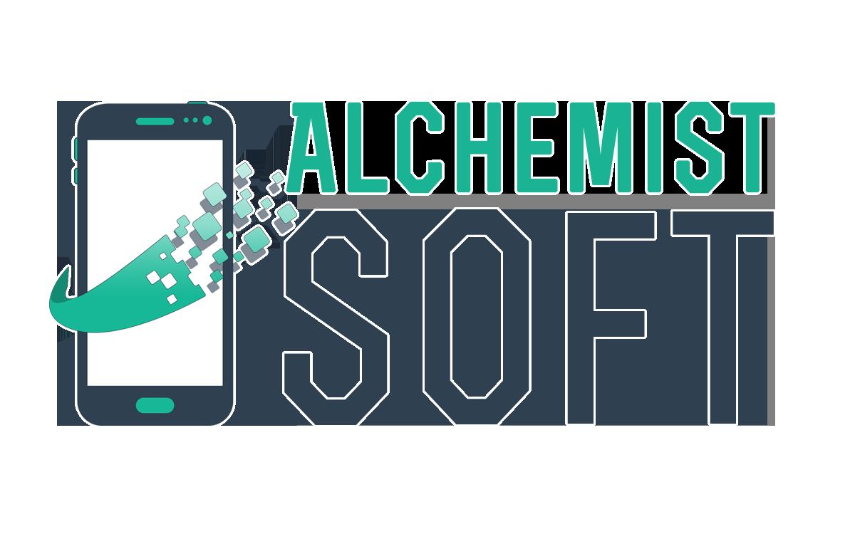 Alchemistsoft - Logo Final Bordes Blancos Grande